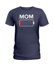 Mom Low Batery Ladies T-Shirt thumbnail