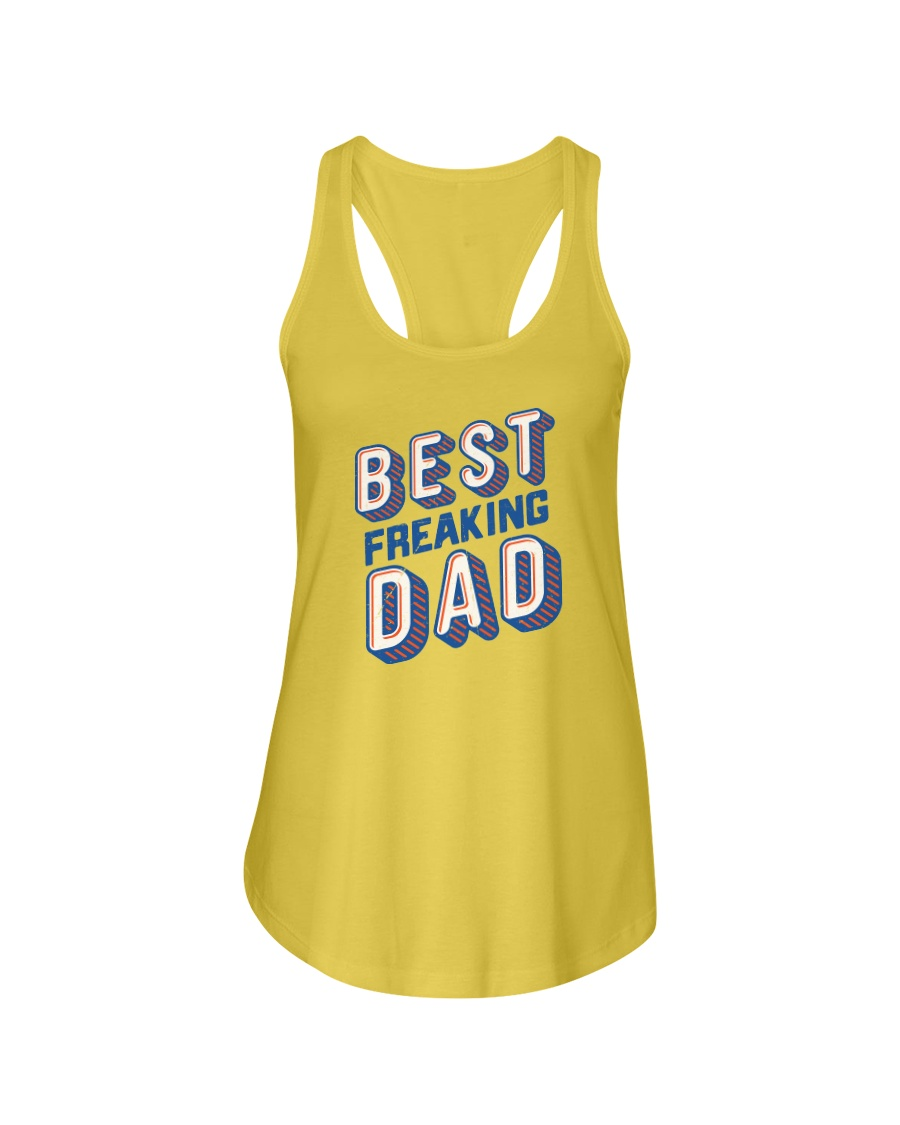 Best Freaking Dad Ladies Flowy Tank