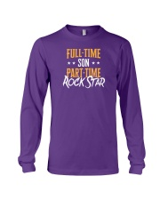 Full Time Son Part Time Rockstar  Long Sleeve Tee front