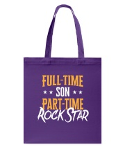 Full Time Son Part Time Rockstar  Tote Bag thumbnail