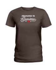 Promoted to Grandma Ladies T-Shirt front