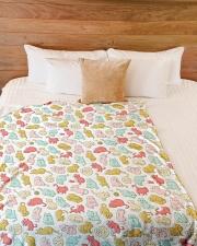 "Kittens Pattern Large Fleece Blanket - 60"" x 80"" aos-coral-fleece-blanket-60x80-lifestyle-front-02"