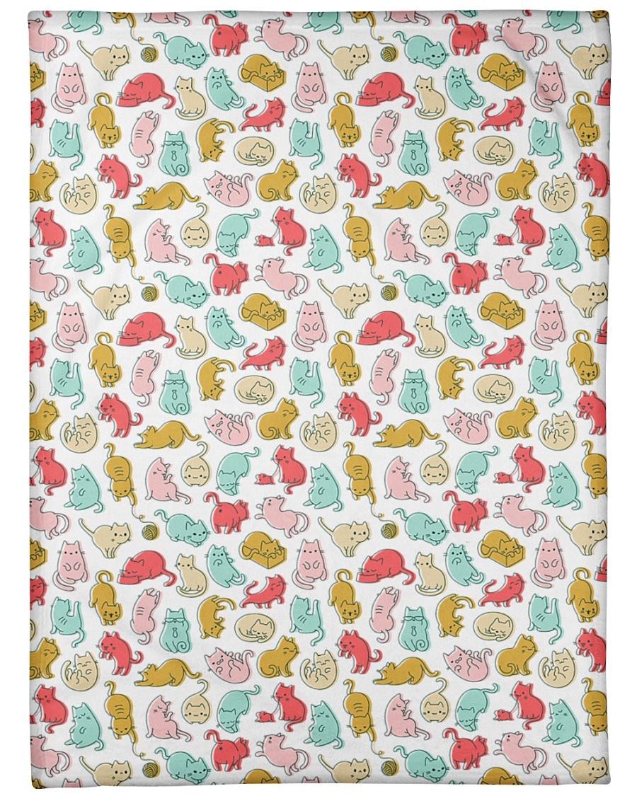 """Kittens Pattern Large Fleece Blanket - 60"""" x 80"""""""