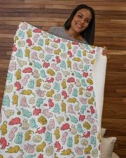 """Kittens Pattern Sherpa Fleece Blanket - 50"""" x 60"""" aos-sherpa-fleece-blanket-50x60-lifestyle-front-09b"""