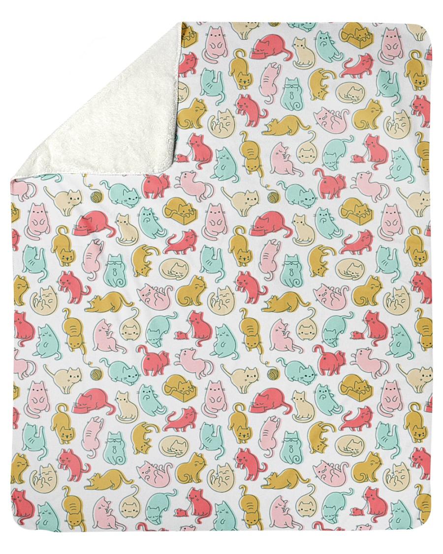 """Kittens Pattern Sherpa Fleece Blanket - 50"""" x 60"""""""
