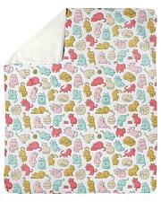 """Kittens Pattern Sherpa Fleece Blanket - 50"""" x 60"""" thumbnail"""