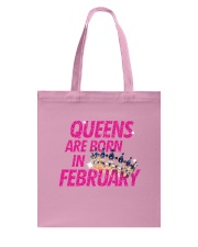 Queens Are Born in February Tote Bag tile