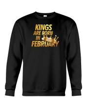 Kings Are Born in February Crewneck Sweatshirt thumbnail