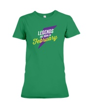 Legends Are Born in February Premium Fit Ladies Tee thumbnail