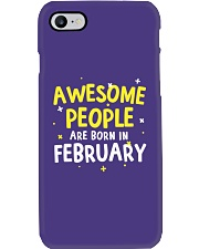 Awesome People Are Born In February Phone Case thumbnail