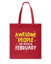 Awesome People Are Born In February Tote Bag thumbnail
