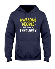 Awesome People Are Born In February Hooded Sweatshirt thumbnail