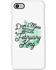 Don't Mess With a February King Phone Case thumbnail