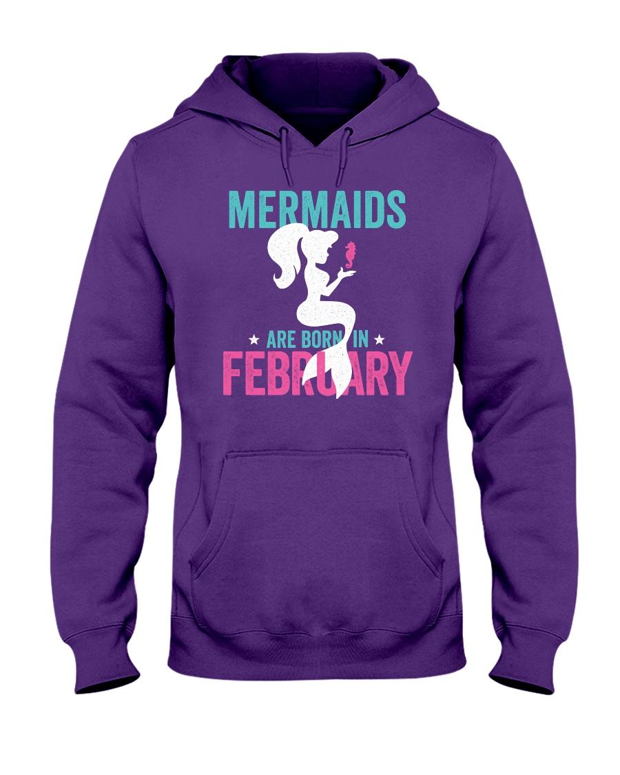 Mermaids Are Born in February Hooded Sweatshirt