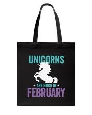 Unicorns Are Born in February Tote Bag thumbnail