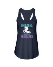 Unicorns Are Born in February Ladies Flowy Tank thumbnail
