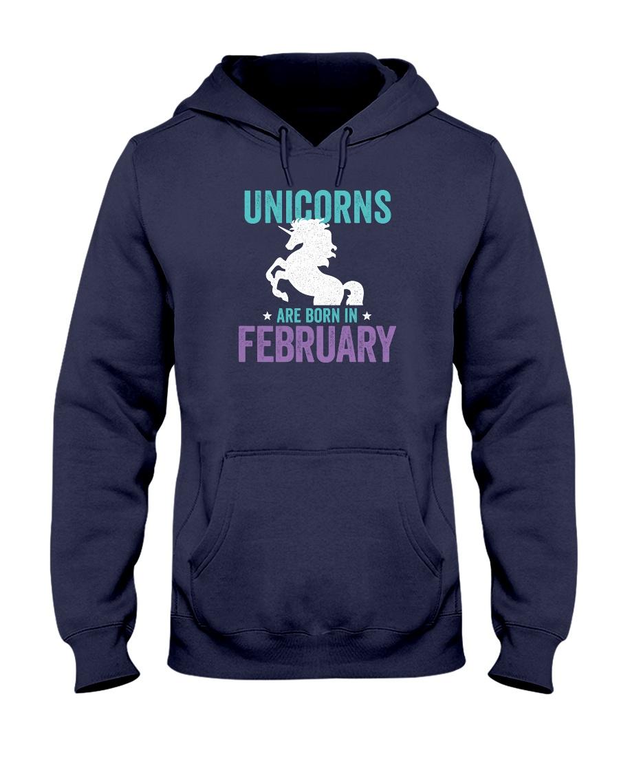 Unicorns Are Born in February Hooded Sweatshirt
