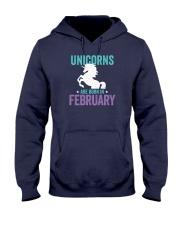 Unicorns Are Born in February Hooded Sweatshirt front