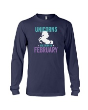 Unicorns Are Born in February Long Sleeve Tee thumbnail