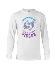 February Girl an Amazing Pisces Long Sleeve Tee tile