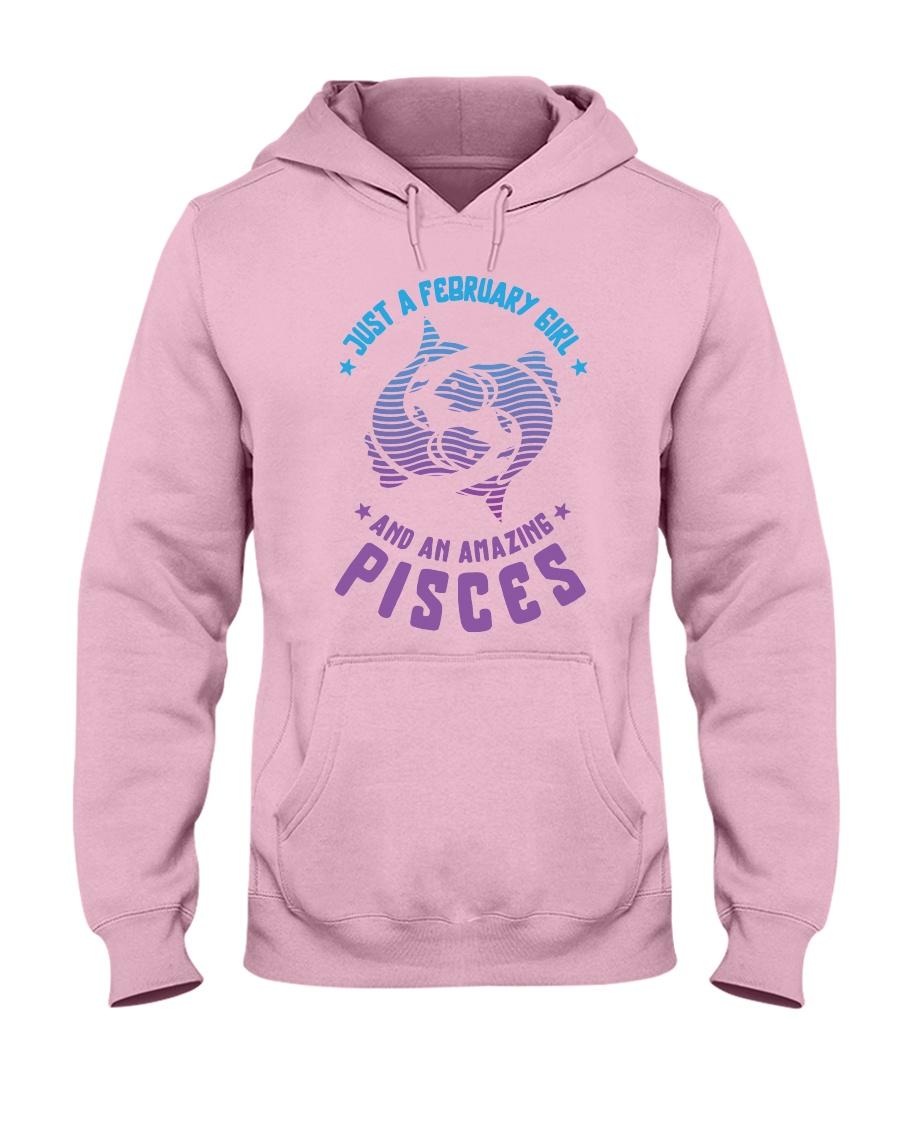 February Girl an Amazing Pisces Hooded Sweatshirt