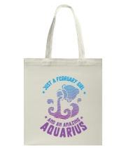 February Girl an Amazing Aquarius Tote Bag thumbnail
