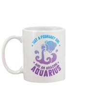 February Girl an Amazing Aquarius Mug back