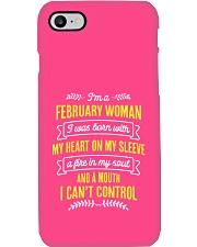 I'm a February Woman Phone Case i-phone-7-case