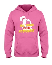 Real Women are Born in February Hooded Sweatshirt thumbnail