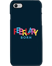 February Born Phone Case tile