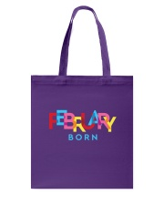 February Born Tote Bag tile