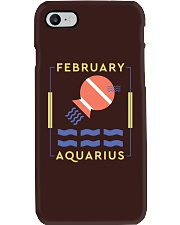 February Aquarius Phone Case tile