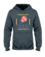 February Aquarius Hooded Sweatshirt tile