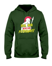 Real Men are Born in February Hooded Sweatshirt thumbnail