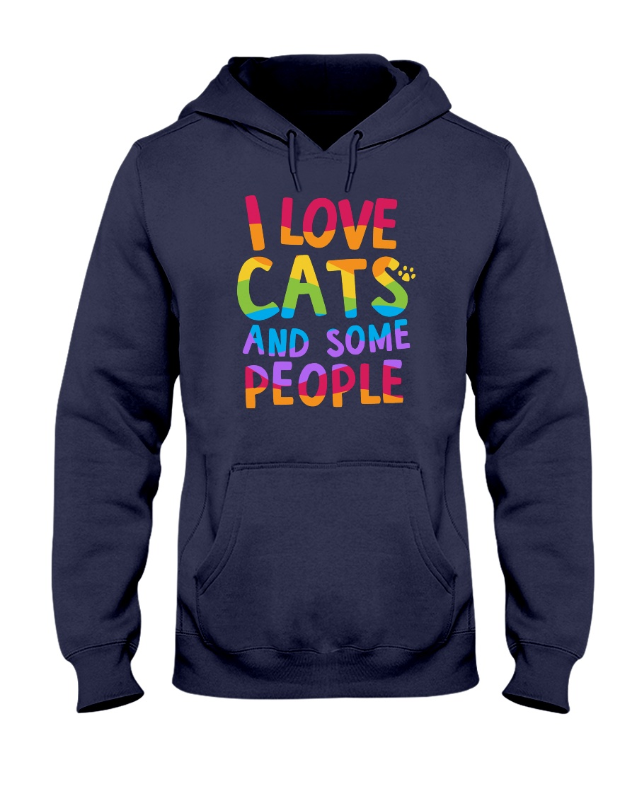 I Love Cats And Some People Hooded Sweatshirt