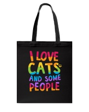 I Love Cats And Some People Tote Bag back