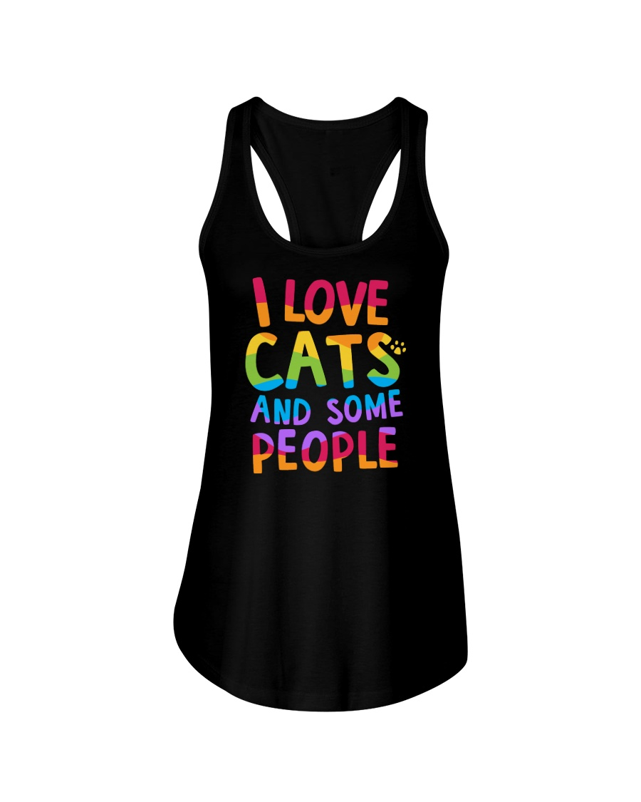 I Love Cats And Some People Ladies Flowy Tank