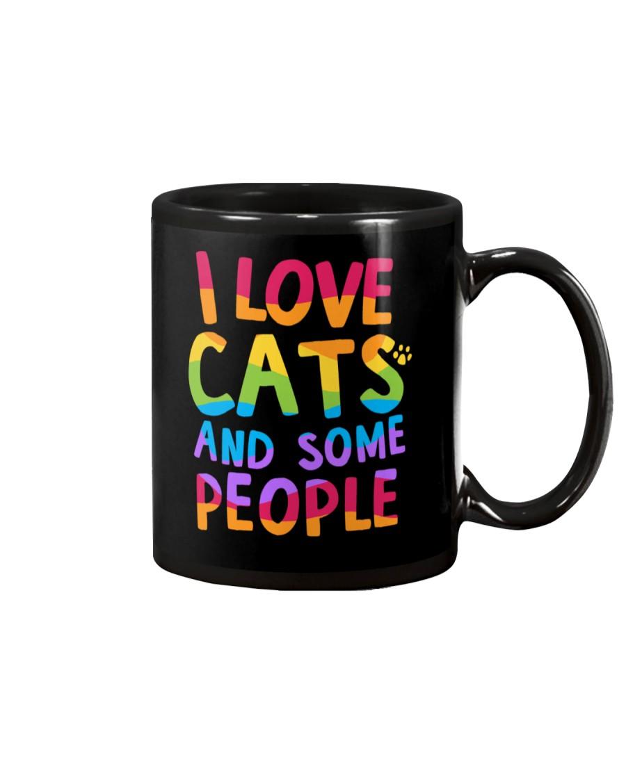 I Love Cats And Some People Mug