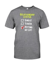 Petting My Cat Classic T-Shirt front