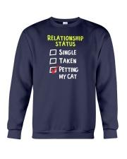 Petting My Cat Crewneck Sweatshirt thumbnail