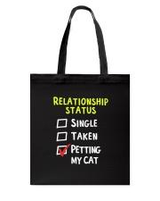 Petting My Cat Tote Bag thumbnail
