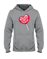 My Cat is my Valentine Hooded Sweatshirt thumbnail