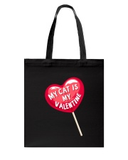 My Cat is my Valentine Tote Bag thumbnail