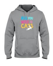 All You Need is Cats Hooded Sweatshirt thumbnail