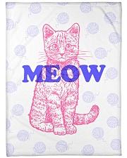 """I Meow You Large Fleece Blanket - 60"""" x 80"""" thumbnail"""