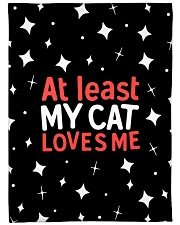 "At Least My Cats Loves Me Large Fleece Blanket - 60"" x 80"" thumbnail"