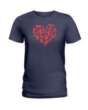 Purry Heart Ladies T-Shirt thumbnail