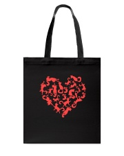 Purry Heart Tote Bag tile