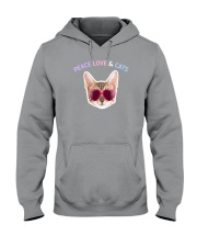 Peace Love And Cats Hooded Sweatshirt thumbnail