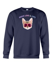 Peace Love And Cats Crewneck Sweatshirt thumbnail